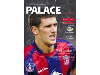 Matchprogram Crystal Palace - Preston North End 7 April 2007