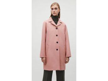 Cos Vintage Pink Wool Car Coat stl 36
