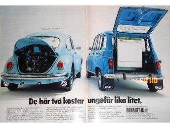 RENAULT 4 - RENAULT VI TROR PÅ VETTIGA MÄNNISKOR TIDNINGSANNONS Retro 1972 - öckerö - RENAULT 4 - RENAULT VI TROR PÅ VETTIGA MÄNNISKOR TIDNINGSANNONS Retro 1972 - öckerö