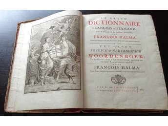 Le grand Dictionnaire François & Flamand 1761