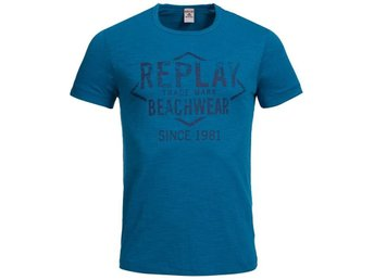 Ny Replay teal T-shirt , M, Snabb Leverans!