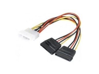 EXC Molex to 2 x SATA power adapter cable 0.15m