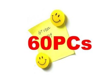 "60 Pcs!NY! ""Smile Face"" kylskåpsmagnet Magnet Note Holder"