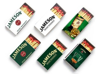 6st Tändsticksaskar Jameson Irish Whiskey Tändstickor Askar Box Whisky