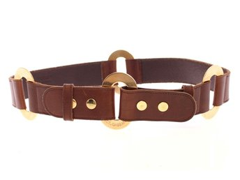 Dolce & Gabbana - Brown Leather Logo Belt