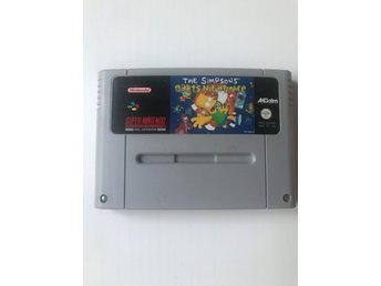 The Simpsons Barts Nightmare Super Nintendo SNES SCN
