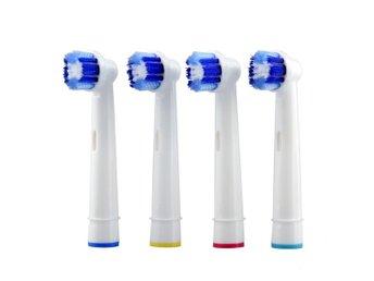 Med en eltandborste blir det renare i munnen.