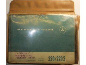 1963 Mercedes-Benz 220 b / 220 Sb Instruktionsbok med fodral - Tavelsjö - 1963 Mercedes-Benz 220 b / 220 Sb Instruktionsbok med fodral - Tavelsjö
