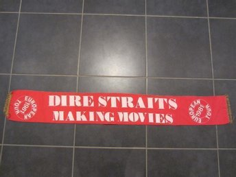 Turnéhalsduk / tour scarf - DIRE STRAITS - Making Movies European tour 1981