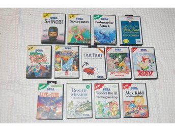 13 Sega Master System spel, Ghouls n Ghosts, Wonderboy III, Alex kidd in shinobi