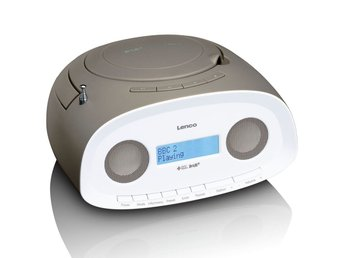 Lenco Portabel DAB+ radio med CD/MP3-spelare SCD-69 taupe