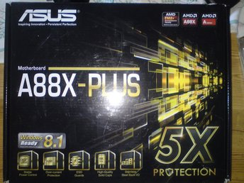 ASUS A88X-PLUS MODERBOARD MED FM2+ SOCKET BOOST INTEGRATED GRAPHICS ON ALL APUs.