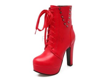 Dam Boots Inside Solid Color Fashion Warm Footwear Red 36