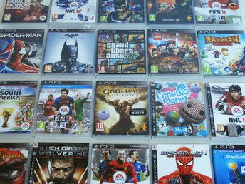 PS3 SPELPAKET - PLAYSTATION 3 SPEL - GTA 5 GOD OF WAR FIFA NHL X MEN LEGO BATMAN