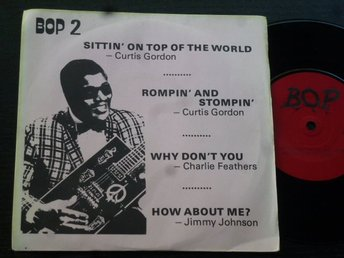 CURTIS GORDON CHARLIE FEATHERS JIMMY JOHNSON - BOP 2 EP UK