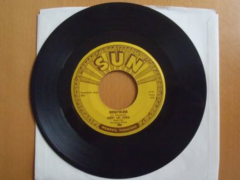 Jerry Lee Lewis Breathless  rare USA Sun 45