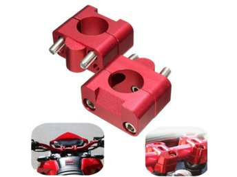 1 1/8  28mm CNC Handlebar Fat Bar Riser Mount Clamp Adapt...
