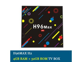 H96 Max H2 Android 7.1 TV-box RK3328 Quad Core 4G / 32G 4K Smart Set-top-box