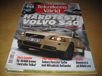 TEKNIKENS VÄRLD NR 4 2004   TEST: VOLVO S40, MERCEDES SL55