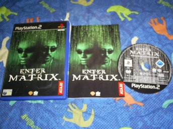 ENTER THE MATRIX,PLAYSTATION 2.,KOMPLETT
