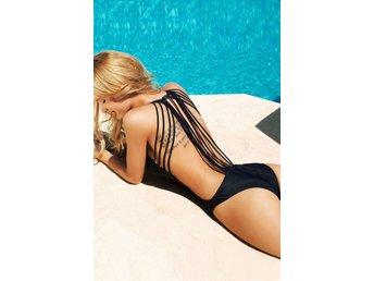 S - Svart med Strängar Bikini Topp Trosa Badkläder Strand Sommar - Gällivare - S - Svart med Strängar Bikini Topp Trosa Badkläder Strand Sommar - Gällivare