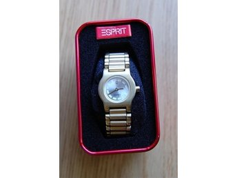Esprit matte gold tone slim bracelet watch