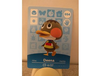 Animal Crossing Amiibo Welcome Amiibo card nr 054 Deena