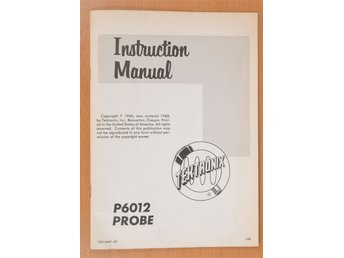 Tektronix Instruction Manual Oscilloscope Probe Type P6012