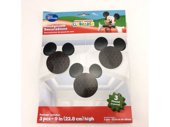 Dekoration, Disney, Musse Pigg, 3-pack