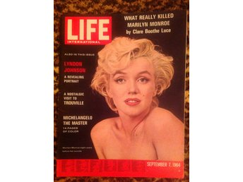 Marilyn Monroe magazine cover 1964. Life. USA