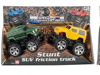 VN Leksaker - Friktion Monster Trucks 2-Pack Gul + Grön 9-10 cm