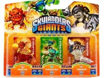 Skylanders Giants Triple Pack - Eruptor, Stealth Elf, Terrafin (Series2)