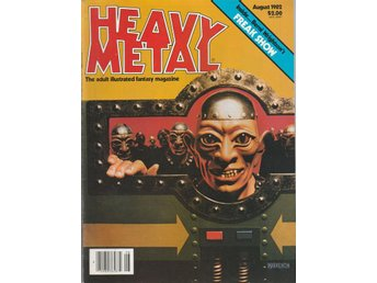 HEAVY METAL ADULT FANTASY MAGAZINE AUGUST 1982