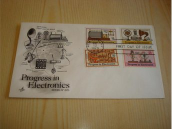 Progress in Electronics 1973 USA förstadagsbrev FDC 4 frimärken