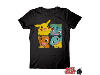 Pokemon Pikachu and Friends T-Shirt Svart (Medium)