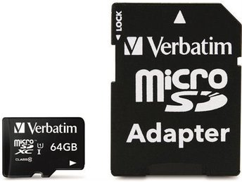 Verbatim 64 GB SD Micro (SDXC) Class 10 with adator