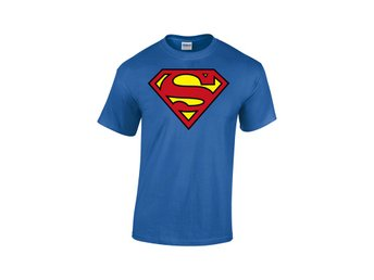 SUPERMAN LOGO BLUE MEN T-SHIRT DC COMICS - Extra-Large