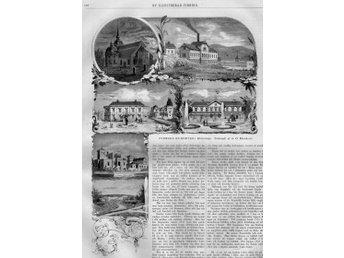 """Träsnitt """"Södertelge / Södertälje kurort"""" – i nyhetstidning från 1880 - Brastad - Träsnitt """"Södertelge / Södertälje kurort"""" – i nyhetstidning från 1880 - Brastad"""