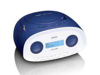 Lenco Portabel DAB+ radio med CD/MP3-spelare SCD-69 blå