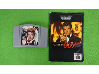 007 GoldenEye KASSETT & MANUAL 64 N64 Nintendo 64 golden eye