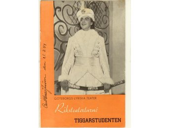 Tiggarstudenten. Program från Göteborgs Lyriska Teater 1944.