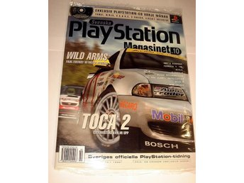 PLAYSTATION Mag  10  NY CD  10/1998 TOCA 2   I ORIGINALPLAST