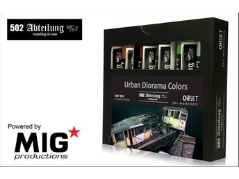 MIG Productions Abteilung 502 - Urban Diorama Colors Oil Set - Skoghall - MIG Productions Abteilung 502 - Urban Diorama Colors Oil Set - Skoghall