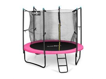 Klarfit Rocketgirl 250 trampolin 250cm säkerhetsnät inne bredd stege rosa - Berlin - Klarfit Rocketgirl 250 trampolin 250cm säkerhetsnät inne bredd stege rosa - Berlin