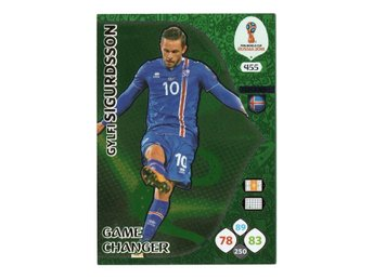 2018 Panini Adrenalyn XL FIFA World Cup Russia Game Changer Gylfi Sigurdsson