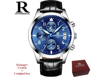 Klocka Herr RONTHEEDGE Business Quartz silver blue