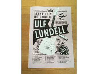 Ulf Lundell specialaffisch poster 2015