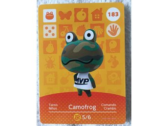 Animal Crossing amiibo kort Series 2 183 Camofrog