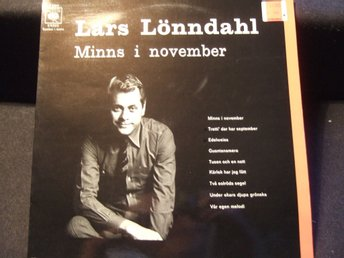LP - LARS LÖNNDAHL. Minns i november. 1971
