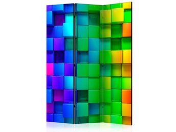 Rumsavdelare - Colourful Cubes Room Dividers 135x172